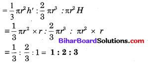 Bihar Board Class 10 Maths Solutions Chapter 13 पृष्ठीय क्षेत्रफल एवं आयतन Additional Questions SAQ 13