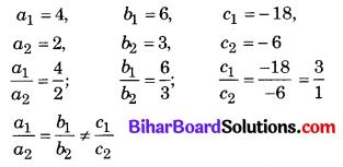 Bihar Board Class 10 Maths Solutions Chapter 3 दो चरों वाले रैखिक समीकरण युग्म Additional Questions VSQ 2