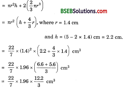 Bihar Board Class 10th Maths Solutions 13 Surface Areas and Volumes Ex 13.2 4