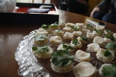 Happy Hour Bites - Radishes filled with Shrimp Roulade