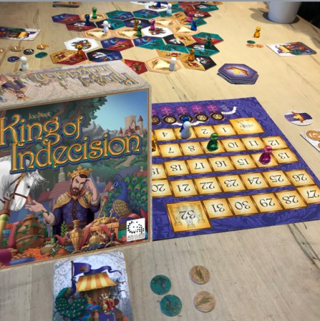 King of Indecision box and components