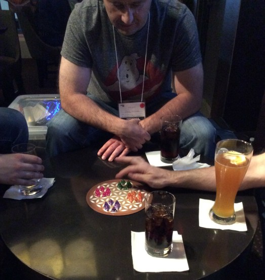 Playing Sinoda with four players at the 30 Lounge.