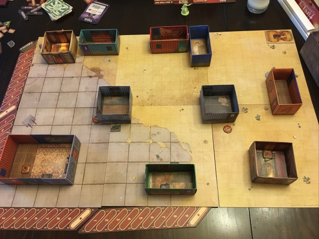 Initial set up of Brigands and Browncoats.