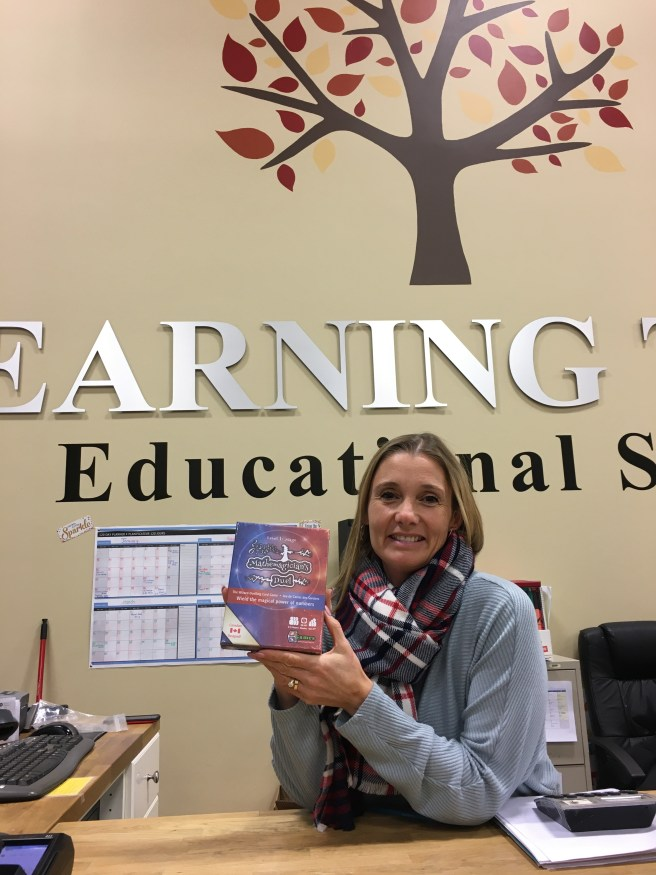 Joni holding Mathemagician's Duel at Learning Tree