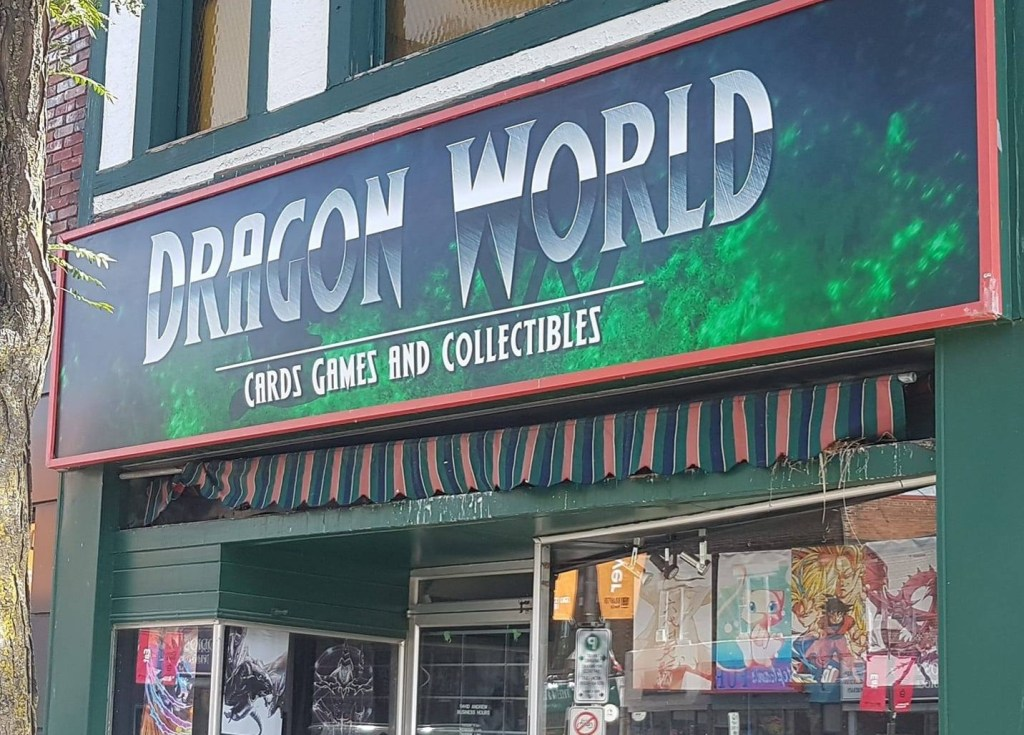 The sign above Dragon World