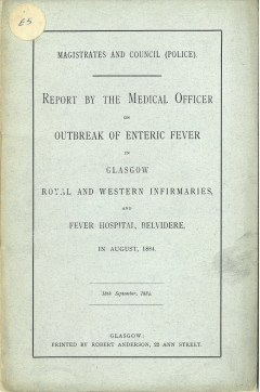 Report on enteric fever outbreak, 1878 (ref: D-HE/1/5/14)
