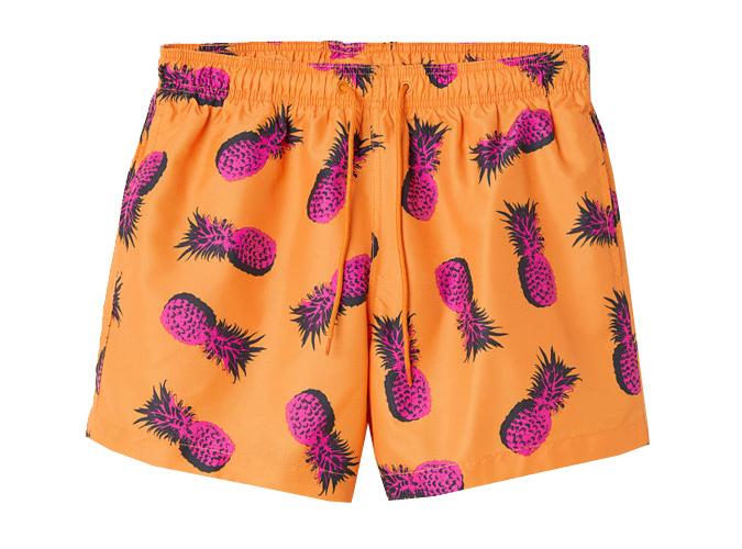 H&M Pineapple Swim Shorts