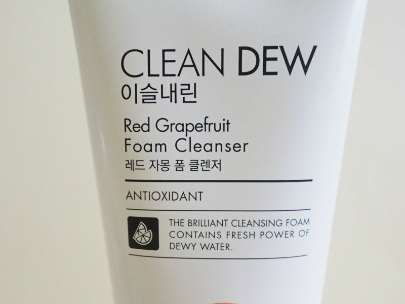 Tony Moly Clean Dew Foam Cleanser Red Grapefruit Product Name