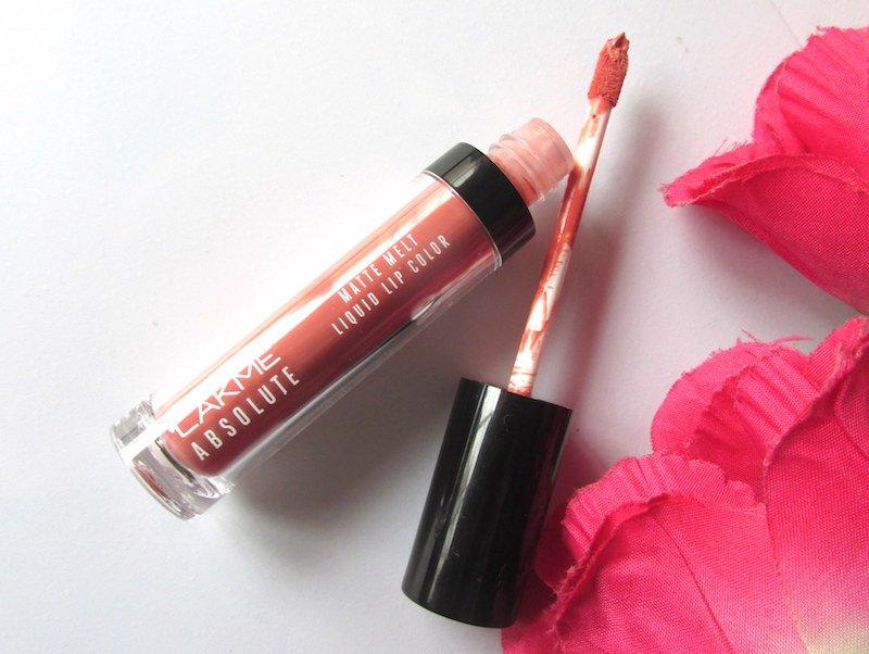 Lakme Absolute Matte Melt Liquid Lip Color Peach Rose open