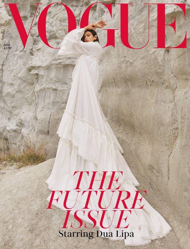 UK Vogue January 2019 : Dua Lipa by Nadine Ijewere