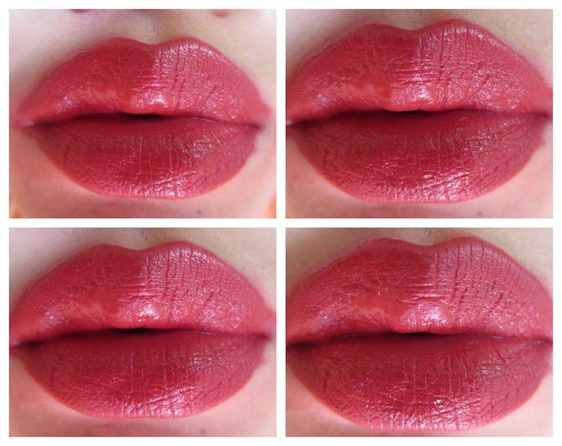 Sugar Suede Secret Matte Lip Colour Rayon Rose on lips