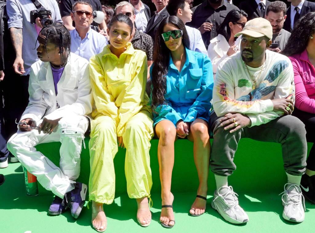 Travis Scott, Kylie Jenner, Kim Kardashian, Kanye West