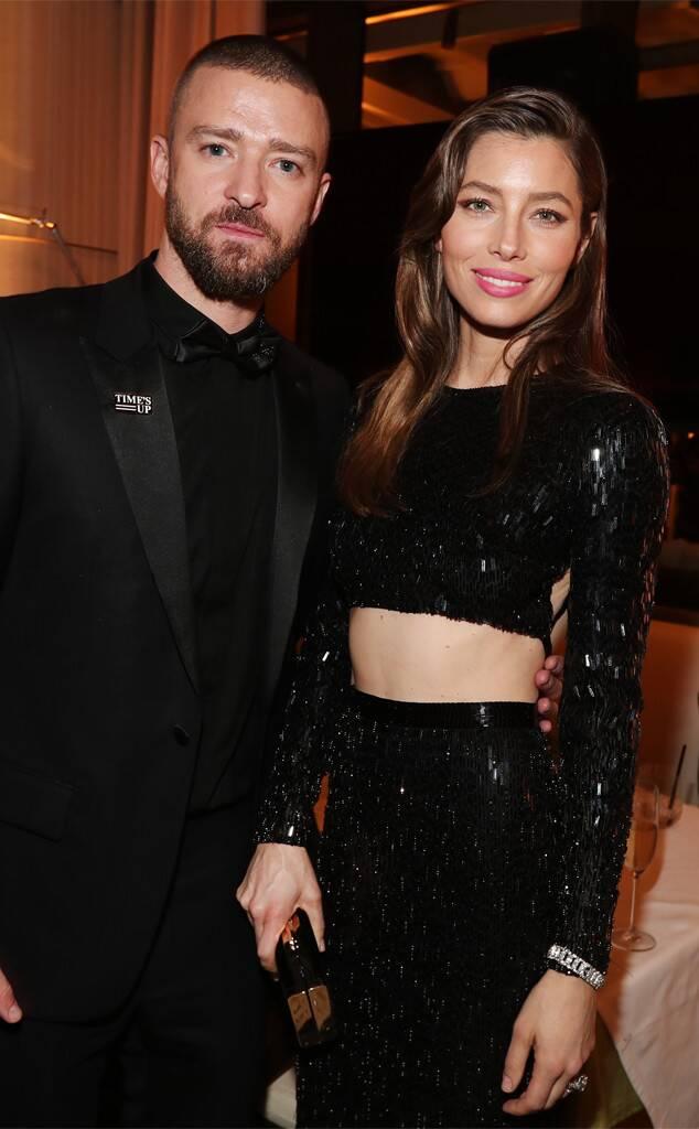 Justin Timberlake, Jessica Biel, 2018 Golden Globes, Party Pics
