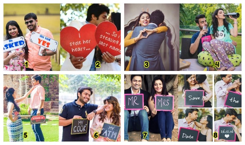 Pre Wedding Photoshoot Poses For Couples