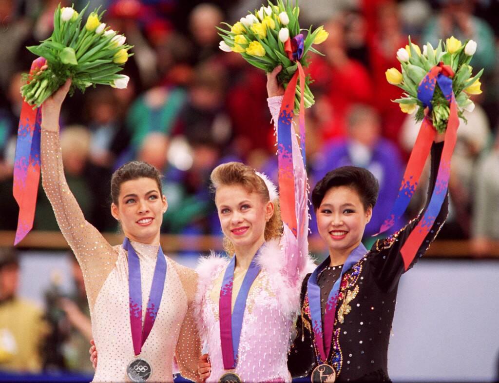 Oksana Baiul, Nancy Kerrigan, Chen Lu, 1994 Olympics