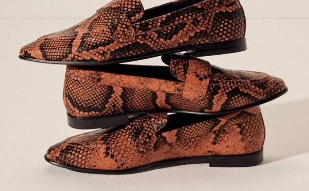 Mango Snake Effect Loafers landscape cropped