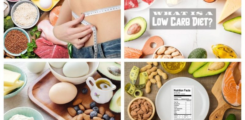 low carb diet collage