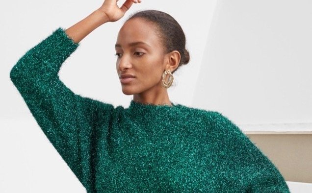Other Stories Fuzzy Metallic Sweater landscape cropped