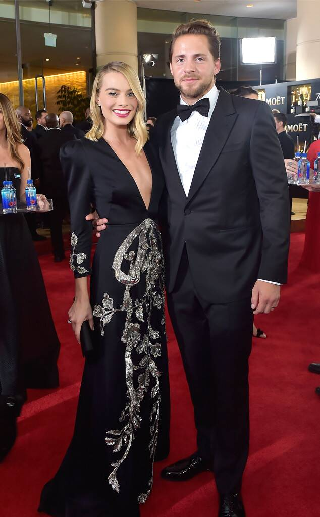 Margot Robbie, Tom Ackerley, Golden Globes, 2018