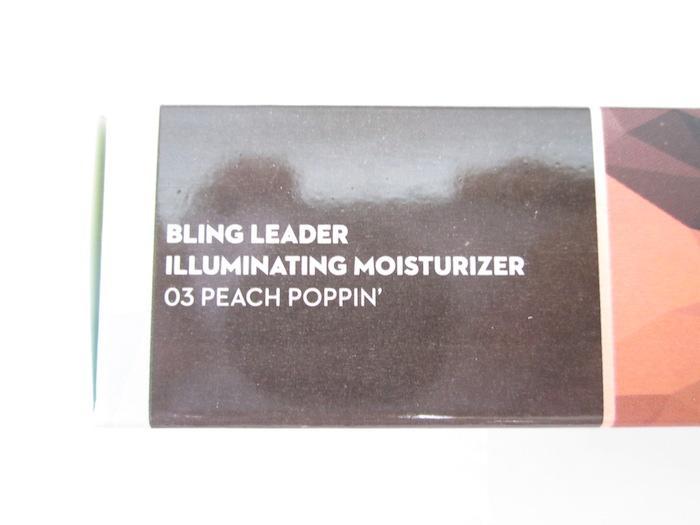 Sugar Bling Leader Illuminating Moisturizer 03 Peach Poppin shade label