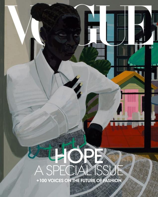 US Vogue September 2020 by Jordan Casteel & Kerry James Marshall