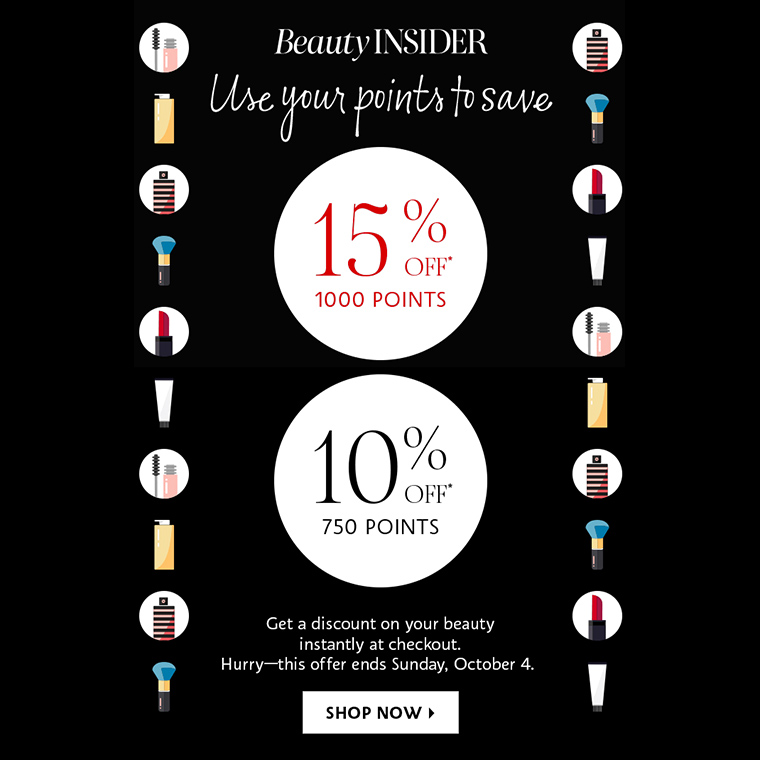 Sephora: Get 10% or 15% Off with Points (October 2020 Deal)