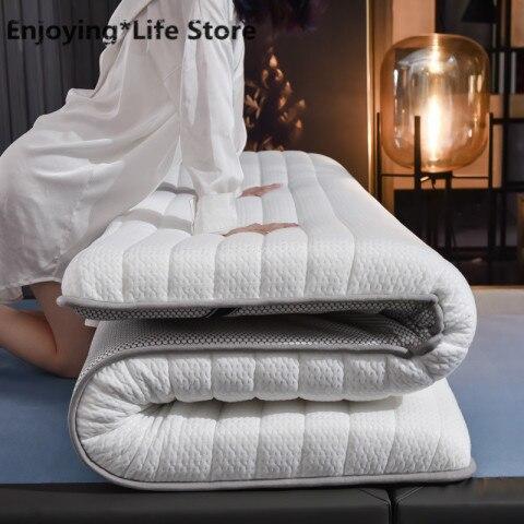 10cm-Thickness-Fashion-Latex-Mattress-Folding-Mattress-For-Queen-King-Twin-Full-Size-Bed-Breathe-Foam