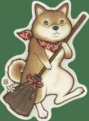 4708-けいお掃除柴犬