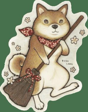 4708-けいお掃除柴犬花