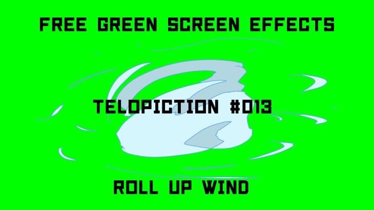 """【No.013】""""Roll up wind"""" 巻き起こる風/フリー素材/グリーンスクリーン/Free Green Screen Effects"""