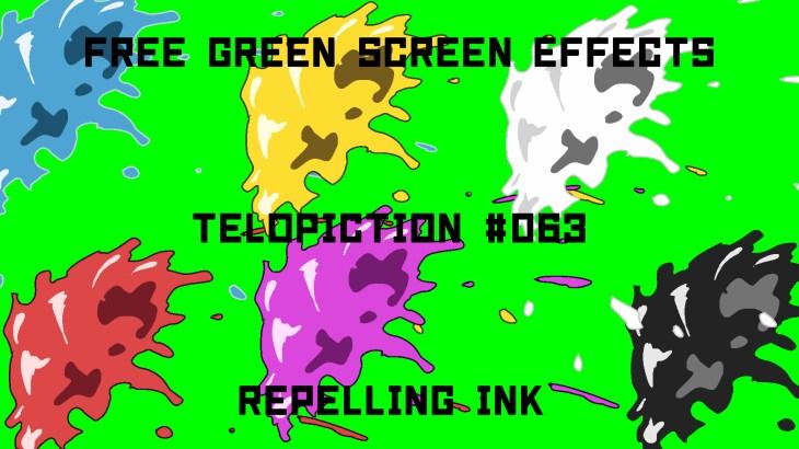 "【No.063】""Repelling ink"" はじけるインク/フリー素材/グリーンスクリーン/Free Green Screen Effects"