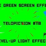 "【No.118】""Level-up light effect"" レベルアップ風の光エフェクト/フリー素材/グリーンスクリーン/Free Green Screen Effects"