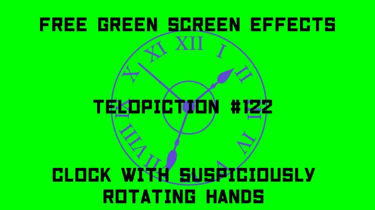 """【No.122】""""clock with suspiciously rotating hands"""" 怪しく針が回る時計/フリー素材/グリーンスクリーン/Free Green Screen Effects"""