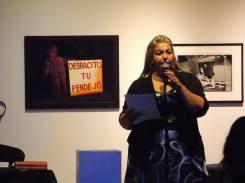 Kimberly Dark sharing her own work