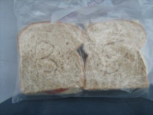 How cute... they even imprinted their sandwiches with BS