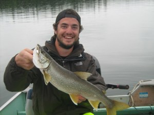 Brett with his catch of the day