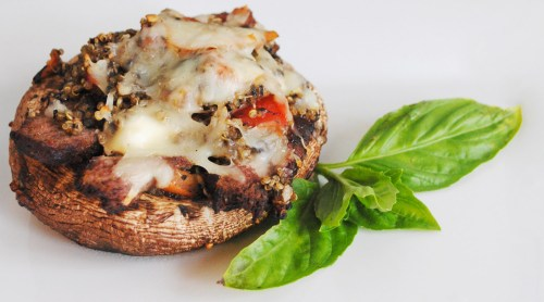 Steak & Goat Cheese Stuffed Portobello Mushrooms | bsinthekitchen.com