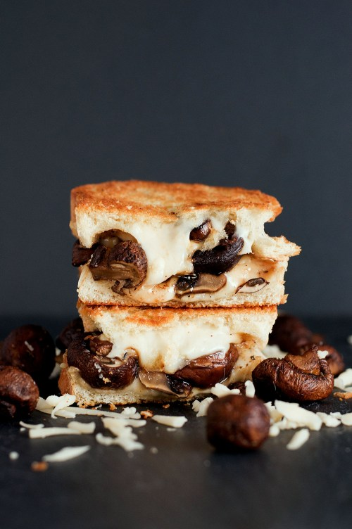 The Swiss Mushroom Melt Grilled Cheese | bsinthekitchen.com #grilledcheese #sandwich #bsinthekitchen