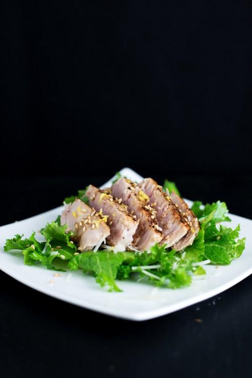 Lemon Pepper Seared Tuna | bsinthekitchen.com #tuna #dinner #bsinthekitchen