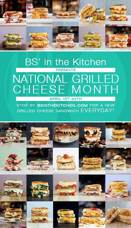 BS' in the Kitchen  celebrates National Grilled Cheese Month | bsinthekitchen.com #grilledcheese #nationalgrilledcheesemonth #bsinthekitchen