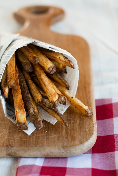 Baked French Fries | bsinthekitchen.com #frenchfries #healthy #bsinthekitchen