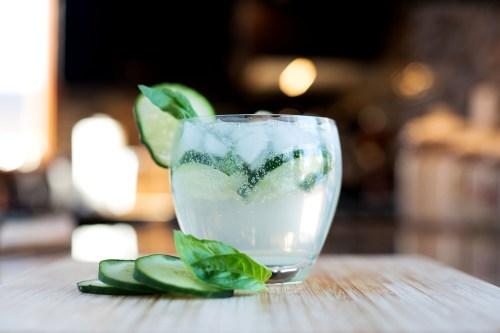 The GBC (Gin, Basil & Cucumber) | bsinthekitchen.com #cocktail #drink #bsinthekitchen