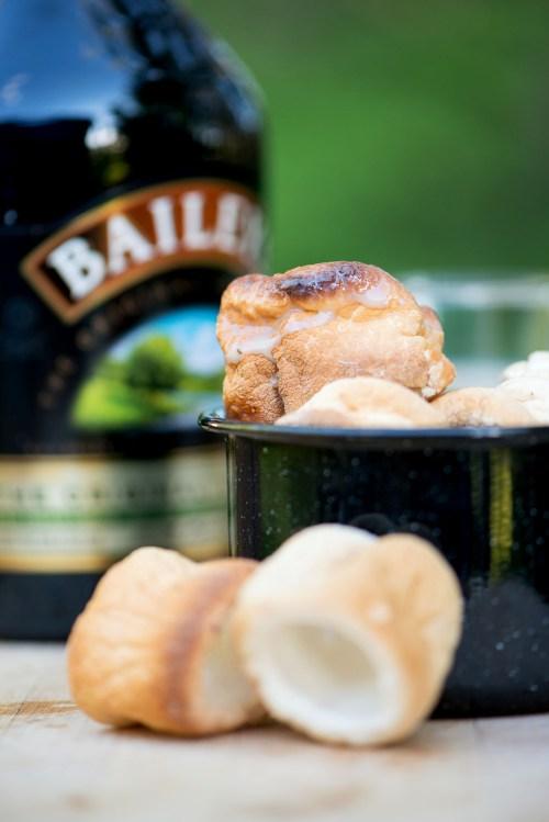 Roasted Marshmallows & Baileys | bsinthekitchen.com #camping #baileys #bsinthekitchen