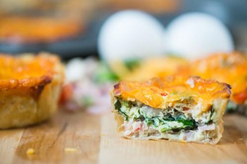 Mini Breakfast Strata   bsinthekitchen.com #breakfast #appetizer #bsinthekitchen