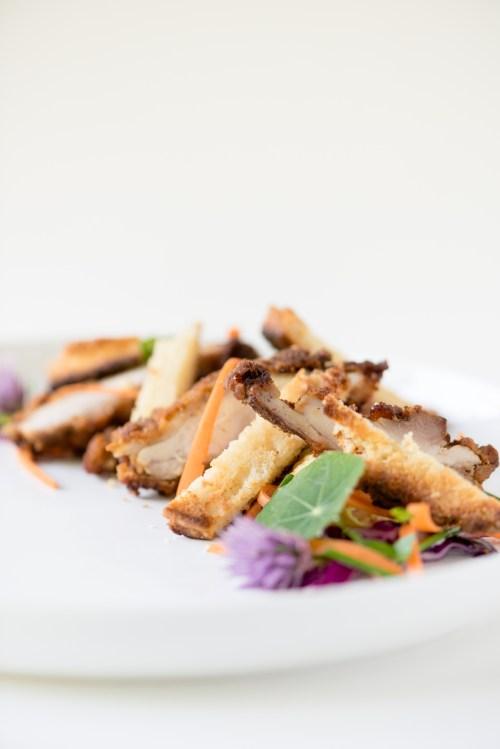 Leftover Fried Chicken & Biscuits Over Coleslaw | bsinthekitchen.com #friedchicken #biscuits #coleslaw