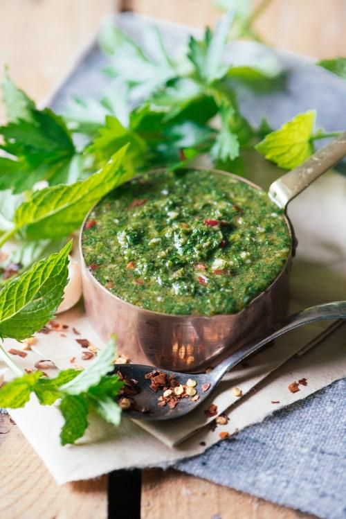 Chimichurri Sauce | bsinthekitchen.com #sauce #chimichurri #bsinthekitchen