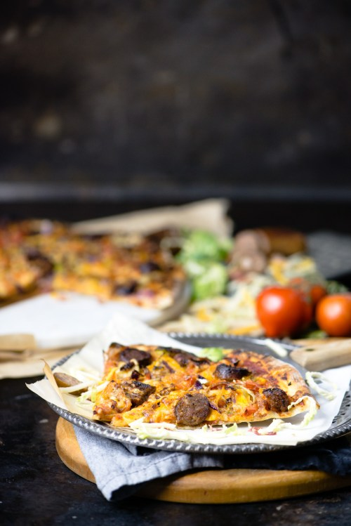 Rustic Italian Pizza | bsinthekitchen.com #pizza #italian #bsinthekitchen