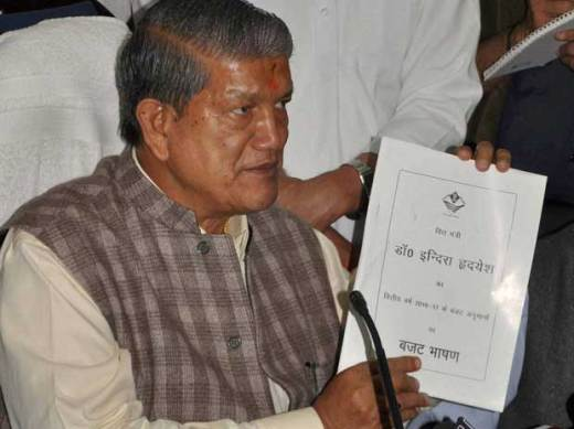 Uttrakhand Chief Minister Harish Rawat addressing a press conference in Dehradun on Sunday, March 27, 2016 PTI