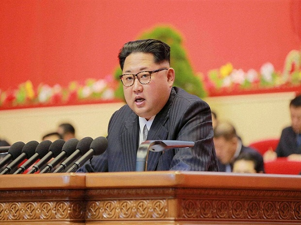 In this May 7, 2016, photo taken and distributed by the North Korean government, North Korean leader Kim Jong Un speaks during the party congress in Pyongyang, North Korea. (Photo: AP/PTI)
