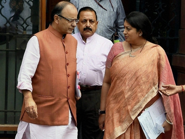 Arun Jaitley and Smriti Irani
